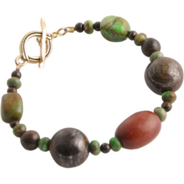 jcpenney.com | Art Smith by BARSE Gemstone & Wood Toggle Bracelet