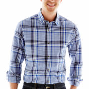 Claiborne Plaid Button-Front Shirt