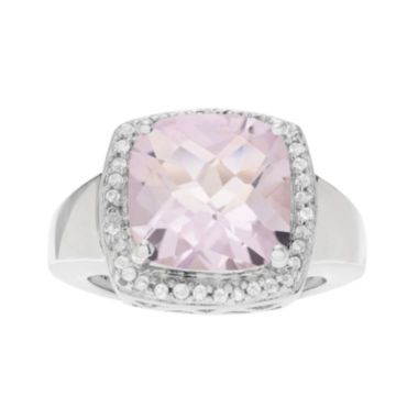 jcpenney.com | Genuine Pink Amethyst and White Topaz Sterling Silver Ring