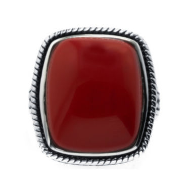 jcpenney.com | Simulated Red Jasper Sterling Silver Rectangular Ring