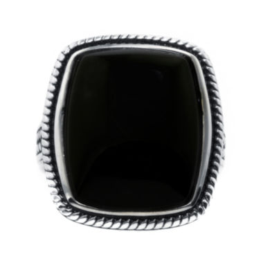 jcpenney.com | Genuine Black Onyx Sterling Silver Rectangular Ring