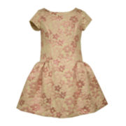 Bonnie Jean® Bowback Brocade Dress - Preschool Girls 4-6x