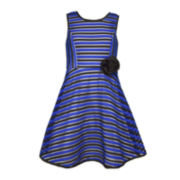 Bonnie Jean® Sleeveless Stripe Dress - Preschool Girls 4-6x