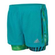 adidas® Double Dutch Pull-On Shorts - Preschool Girls 4-6x