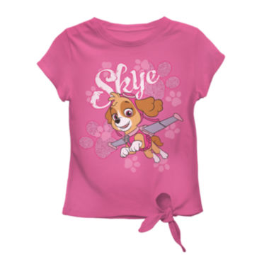 jcpenney.com | Short-Sleeve Paw Patrol Skye Tie Tee - Toddler Girls 2t-4t
