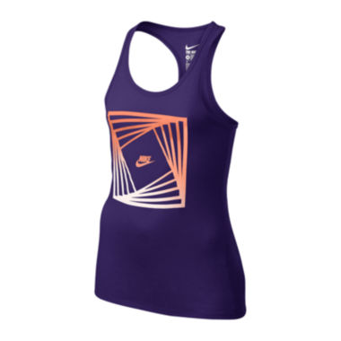 jcpenney.com | Nike® Block Racerback Tank Top - Girls 7-16
