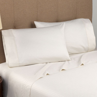 Modern Living 300tc Organic Cotton Geometric Sateen Sheet Set