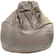 Faux-Leather Teardrop Beanbag