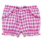 Okie Dokie® Denim Bubble Shorts - Baby Girls newborn-24m