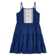 Arizona Sleeveless Tiered Lace Dress - Preschool Girls 4-6x