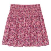 Arizona Print Skirt with Smocked Waist - Girls 7-16 and Plus