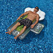 Swimline Beer Mug 72-in Inflatable Pool Float w/ Mini Cooler