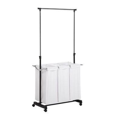 jcpenney.com | Honey-Can-Do® Triple Sorter Laundry Center + Hanging Bar
