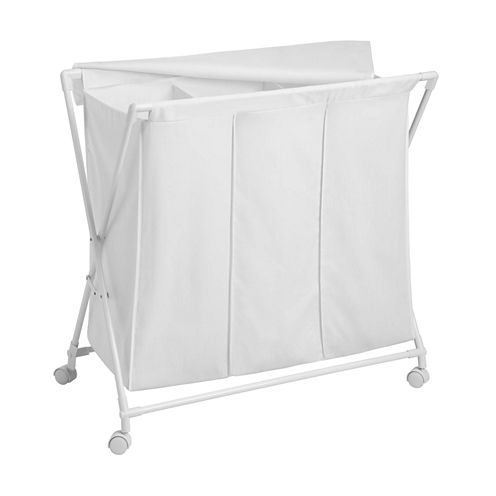 Honey-Can-Do® Folding Triple Hamper/Sorter