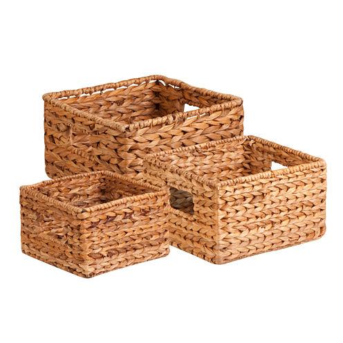 Honey-Can-Do® 3-pc. Nesting Banana Leaf Basket Set