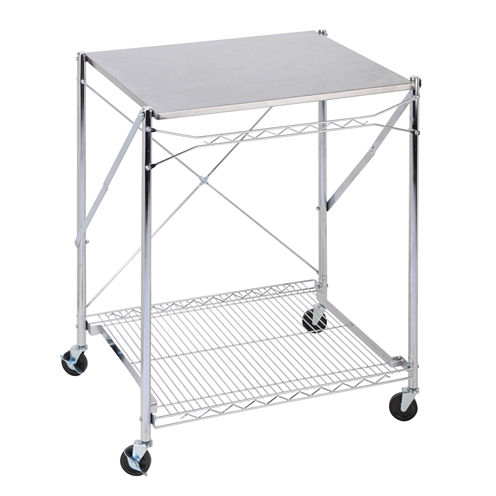 Honey-Can-Do® Stainless Steel Folding Urban Work Table