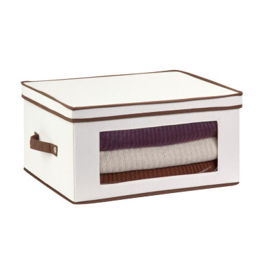 jcpenney.com | Honey-Can-Do® Natural Canvas Large Window Storage Chest