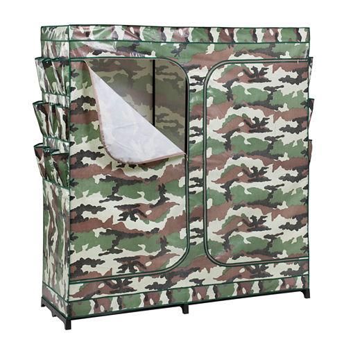 Honey-Can-Do® Camouflage Double-Door Storage Closet