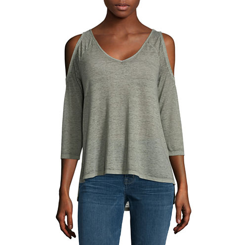 a.n.a 3/4 Sleeve Cold Shoulder Tee