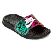 Nike® Benassi Girls Slide Sandals - Little Kids/Big Kids
