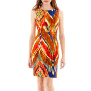 Alyx® Sleeveless Aztec Print Sheath Dress