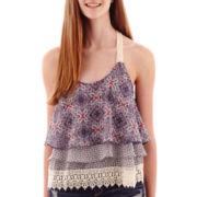 Rewind Sleeveless Ruffle Crochet Top