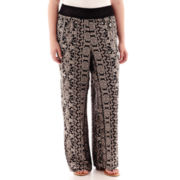 Living Doll Woven Palazzo Pants - Plus