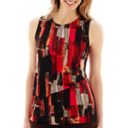 Liz Claiborne® Sleeveless Double-Layer Tunic