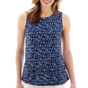 Liz Claiborne® Sleeveless Double-Layer Tunic