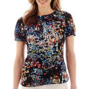 Liz Claiborne® Short-Sleeve Print Blouse