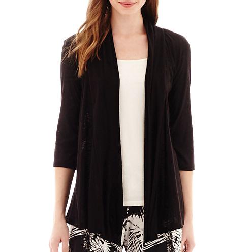 Alyx® 3/4-Sleeve Open-Front Knit Cozy
