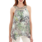 Alyx® Lattice-Neck Print Tank Top