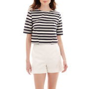 Stylus™ Short-Sleeve Boxy Stripe Top or High-Waist Shorts