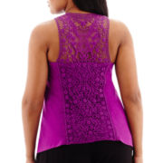 Bisou Bisou® Lace-Back Tank Top