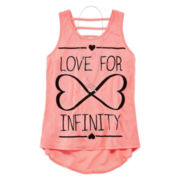 Beautees High-Low Necklace Tank Top - Girls 7-16