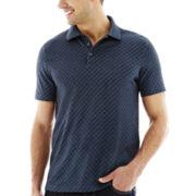 Van Heusen® Short-Sleeve Jacquard Polo