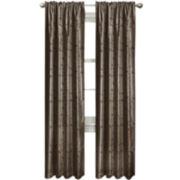 Light Shield Jardin Embroidered Thermal Blackout Rod-Pocket Curtain Panel