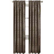 Light Shield Jardin Embroidered Thermal Blackout Rod-Pocket Curtain Panel