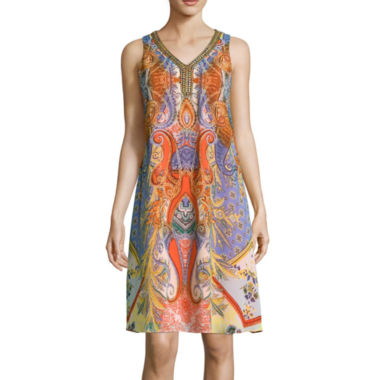 jcpenney.com | Studio 1® Scroll Print Beaded Neckline Dress