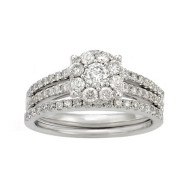 jcpenney.com | LIMITED QUANTITIES 1 CT. T.W. Diamond 14K White Gold Bridal Ring Set