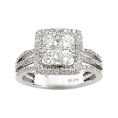 jcpenney.com | LIMITED QUANTITIES 1 1/2 CT. T.W. Diamond 14K White Gold Bridal Ring