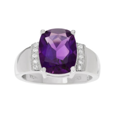jcpenney.com | Genuine Purple Amethyst & White Topaz Sterling Silver Ring