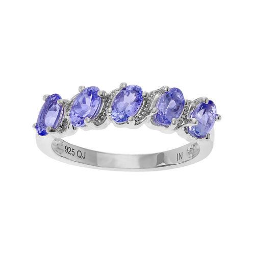 Genuine Tanzanite Sterling Silver Ring