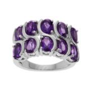 Genuine Amethyst Sterling Silver Ring