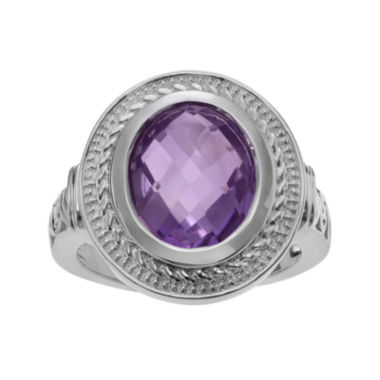 jcpenney.com | Genuine Amethyst Sterling Silver Solitaire Ring
