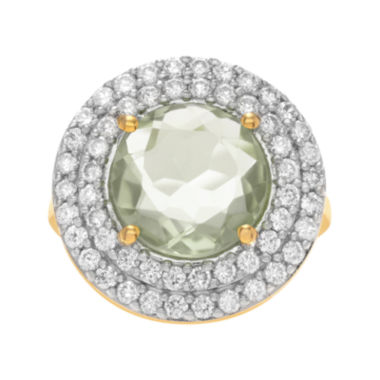 jcpenney.com | Journee Collection Genuine Green Quartz and Cubic Zirconia Ring