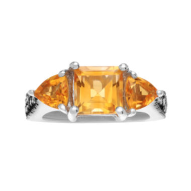 jcpenney.com | Journee Collection Diamond Accent & Genuine Citrine Sterling Silver Ring