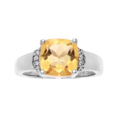 jcpenney.com | Genuine Citrine & White Topaz Sterling Silver Ring