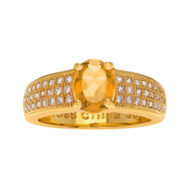 jcpenney.com | Genuine Citrine and Cubic Zirconia 14K Gold Over Brass Ring