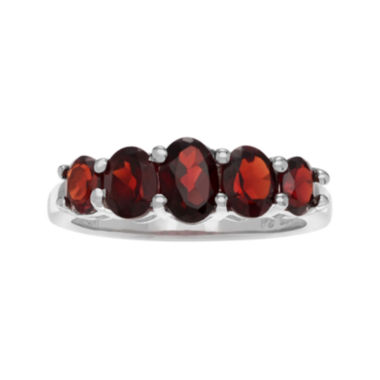 jcpenney.com | Genuine Garnet Five-Stone Sterling Silver Ring